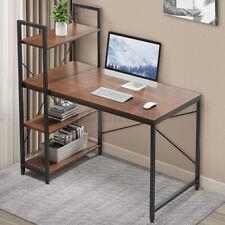 Computer Office Desk Corner Small Table Pc Laptop Study Workstation Home Shelves