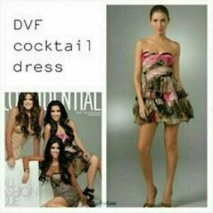 DIANE-VON-FURSTENBERG-Womens-Brighton-Cocktail-Dress-Size-AU-4-US-0