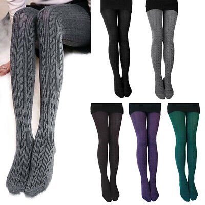 Womans  1X 2X Opaque Color Extra Warm Sweater Footed Tights  Buy 2 get 1 Free