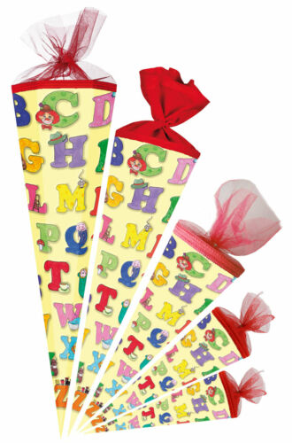 Nestler Schultüte ABC Alphabet Zuckertüte Einschulung Schulanfang Schule