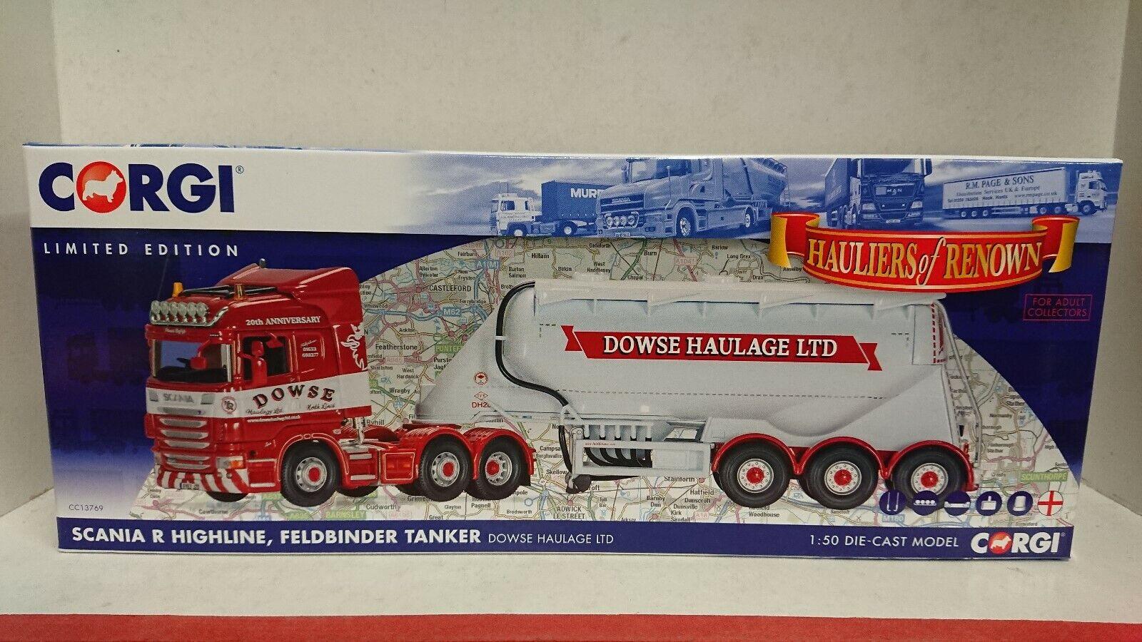 Corgi CC13769 Scania R Feldbinder Tanker Dowse Haulage Ltd Edition of 800