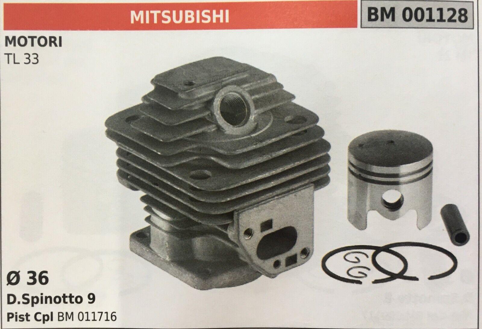 Zylinder Komplett mit Kolben und Segmente Brumar BM001128 Mitsubishi