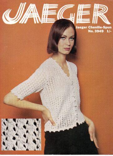 "Jaeger 3949 Ladies Repro Vintage Knitting Pattern Summer Cardigan DK 34-40/"""
