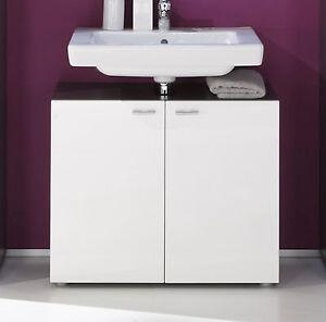waschbeckenunterschrank wei hochglanz graphit grau bad schrank waschtisch tetis ebay. Black Bedroom Furniture Sets. Home Design Ideas