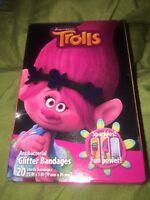 Trolls Band Aids Bandages 20 In Pack 3 Motives Kids Glitter Bandages