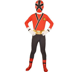 Image is loading Children-Power-Rangers-Costume-Samurai -Cosplay-Halloween-Fancy-  sc 1 st  eBay & Children Power Rangers Costume Samurai Cosplay Halloween Fancy Dress ...
