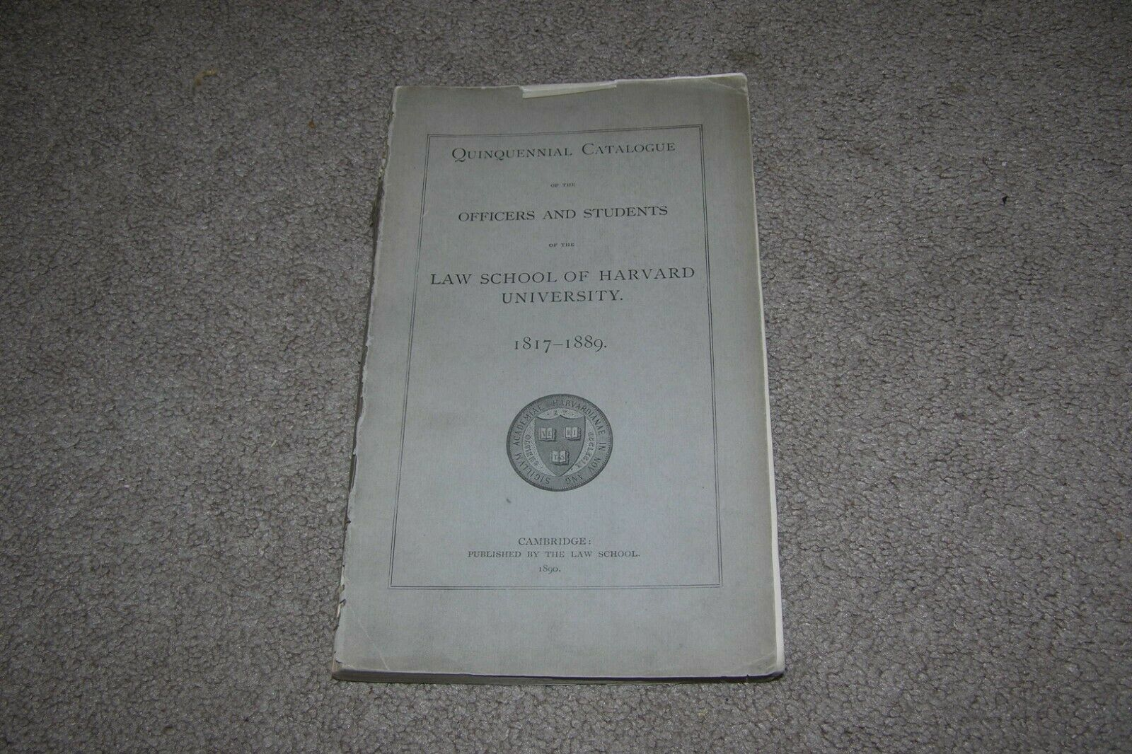 1871-1889 Officers & Students Harvard Law School, 250+ Pages 6