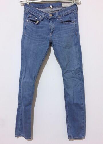 Bone Coton Finch Cheville Wash Taille Capri In Crop Jeans Bleu Rag 25 X 26 27 gxZfn