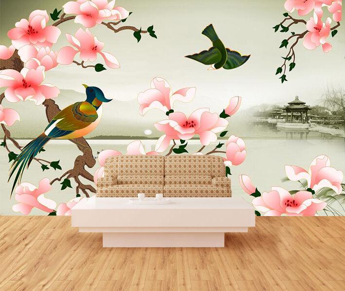 3D Uccelli 944 Parete Murale Foto Carta da parati immagine sfondo muro stampa