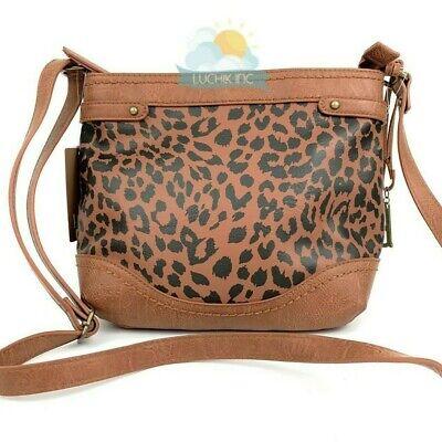 B.O.C  Women/'s Leopard Print Crossbody Purse Bag