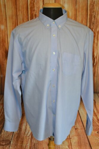Untuckit Men's Baby Blue Wrinkle Free Button Down