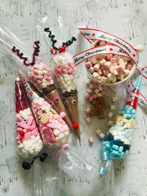 Hot Chocolate Cone Reindeer Christmas Eve Box Filler Sweets Large Cones