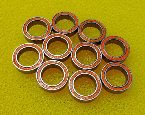 5 PCS Rubber Sealed Ball Bearing Bearings ORANGE 6701RS 12x18x4 mm 6701-2RS