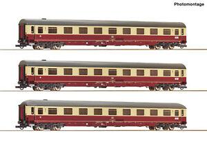 Roco-H0-74095-Autoreisezugwagen-Set-1-034-Christoforus-Express-034-der-DB-NEU-OVP