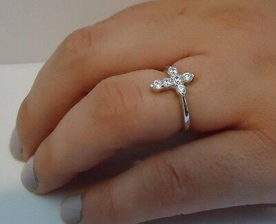 Argent Sterling 925 Designers Croix Collier Pendentif avec .40 ct diamants