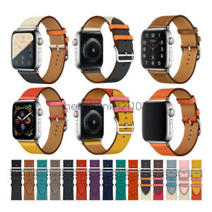 Real-Leather-Single-Tour-Bracelet-For-Apple-Watch-Band-Strap-Series-5-4-3