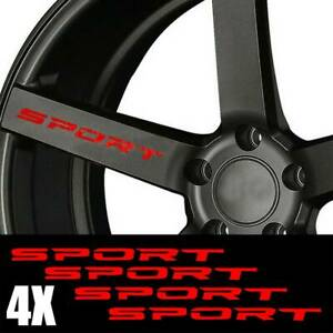 4Pcs-Red-SPORT-Auto-Car-Door-Rims-Wheel-Hub-Racing-Sticker-Graphic-Decal-Red-NEW