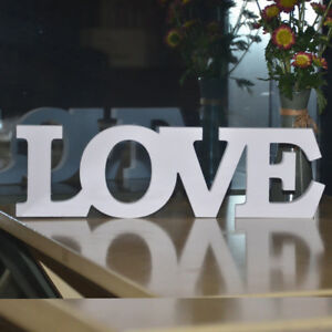 Image Is Loading White Wooden Words Live Love Letters Free Stand