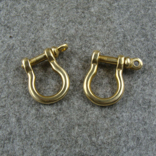 2pcs Solid Brass D Shackle Chain Bag Connect Hook Connector for Bag Wallet Use