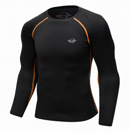 Men/'s Compression T Shirts Running Basketball Training Tops Gym Athletic Wicking