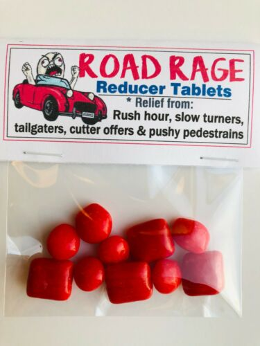 ROAD RAGE REDUCER Tablets funny prank novelty joke silly gifts GAG Gift Bags