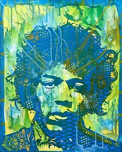 Dean-Russo-Art-Original-Artwork-Jimi-Hendrix-Portrait-Art-Guitar-Music