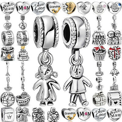 European 925 Family theme silver charms bead For lot PAN sterling bracelet chain