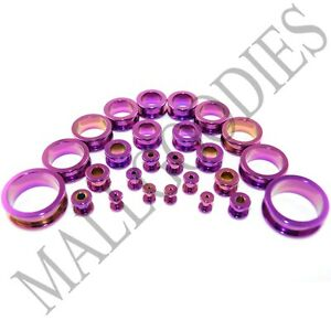 V014-Screw-on-fit-Hot-Pink-Surgical-Steel-Flesh-Tunnels-Ear-Plugs-10G-1-034-Gauges