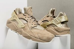 6c9619c7cbd2 nike Air Huarache Run Premium KHAKI GOLD COIN US MENS SHOE SIZES ...