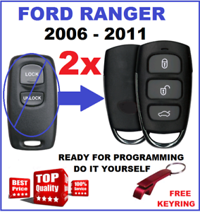 2-x-Suitable-for-FORD-RANGER-REMOTE-KEYLESS-FOB-2006-2007-2008-2009-2010-2011