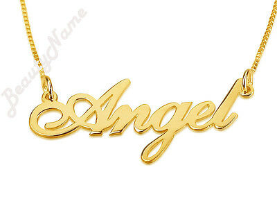 Any Personalised Name Necklace 24K Gold Plated With 24K GP Chain, Great Gift !