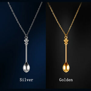 gold spoon scarab spoon small spoon egyptian spoon spoon necklace Spoon gold pendant party jewelry spoon pendant