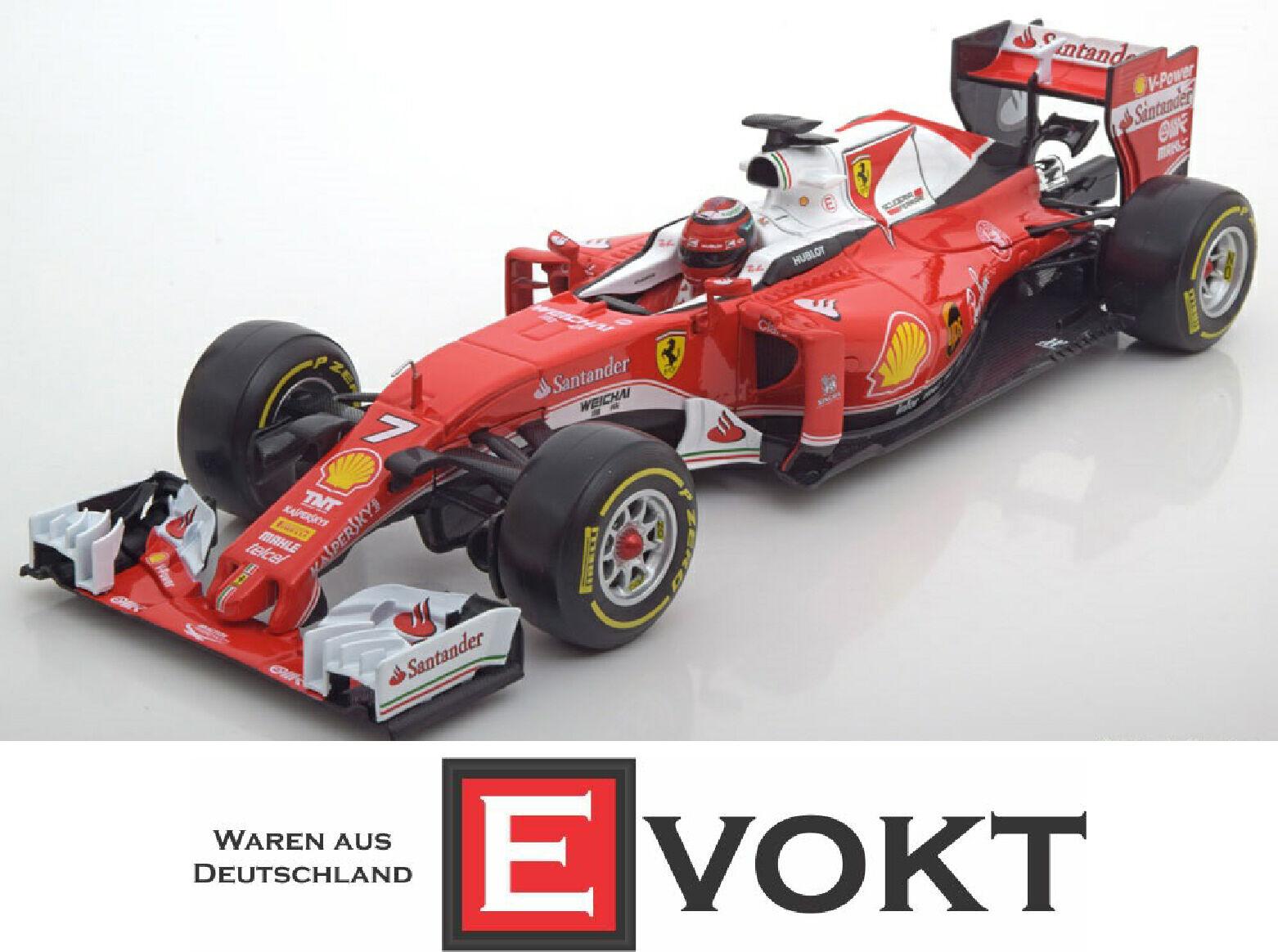 Ferrari SF16-H Formula 1 2016 Kimi Raikkonen red, model car 1 18   Burago