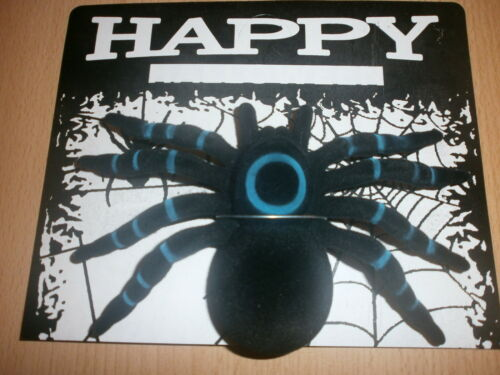 1 große Spinne Vogelspinne 17 x 14 cm Halloween Deko Gruselparty SALE R60