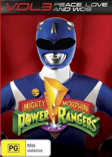 1 of 1 - NEW Mighty Morphin Power Rangers Vol 3 DVD Video 2014R4 Peace Love Kids Children