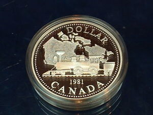 1981 CANADA VOYAGEUR PROOF ONE DOLLAR HEAVY CAMEO COIN