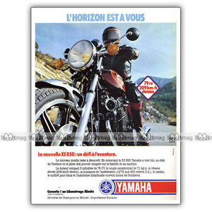 PUB-YAMAHA-XS-850-XS850-850XS-Original-Advert-Publicite-Moto-de-1980