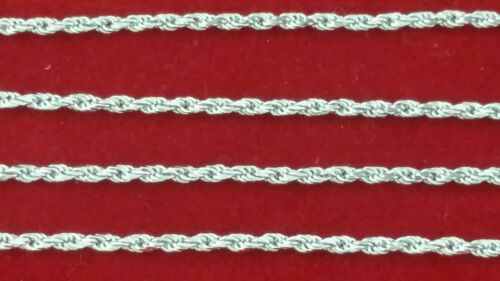 Solid .925 Sterling Silver Rope Chain Choker Necklace Bracelet Anklet ITALY