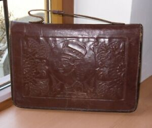 Real Leather Clutch Handbag Valise