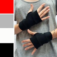Short Black Cotton Fingerless Gloves Winter Smoking Burner Steampunk Goth 1011