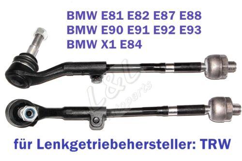 2x SPURSTANGE AXIALGELENK BMW 1er E81 E87 E88 3er E90 E91 E92 E93 X1 E84 VORNE