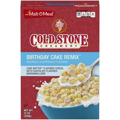 Excellent Malt O Meal Cold Stone Creamery Birthday Cake Remix Cereal 12 Oz Personalised Birthday Cards Rectzonderlifede