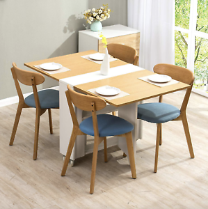 Drop Leaf Dining Table Small Breakfast Room Folding Space Saving