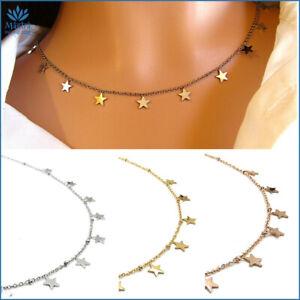Collana donna con stelle girocollo in acciaio stelline collanina da catenina per