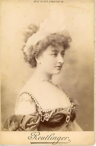 Reutlinger-Charles-France-Cecile-Sorel-comedienne-1873-1966-Vintage-silver