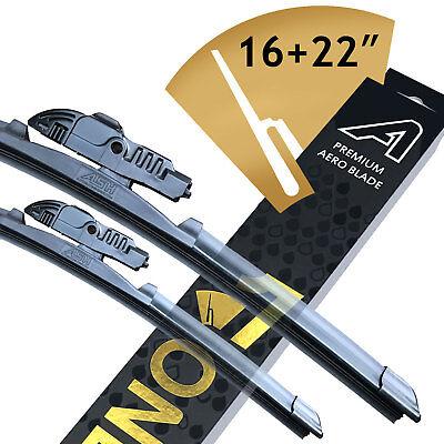 "Premium ASH Wiper Blades Fits 16/"" /& 22/"" Kia Picanto BA Hatchback 1.0"