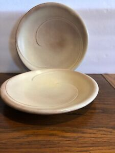 Frankoma-10-Dinner-Plates-4F-Lazybones-Desert-Gold-Set-Of-Two