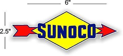 "12/"" SUNOCO 1939-59 GASOLINE GAS PUMP OIL TANK DECAL DX a"