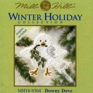 MILL HILL COLORFUL HOLIDAY FLAMINGO ORNAMENT OR MAGNET BEADED CROSS STITCH  KIT