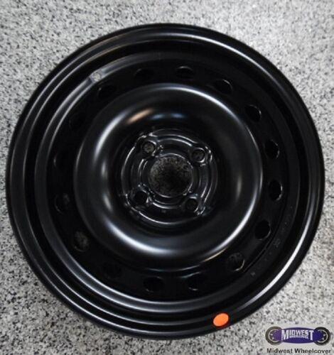 100MM PONTIAC 4 LUG AVEO 6624 /'07-/'09 CHEVY WAVE 15X6 BLACK STEEL RIM
